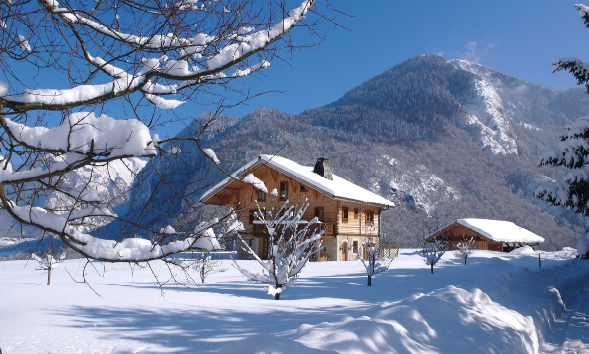 A beautiful winter chalet in Abondance Valley
