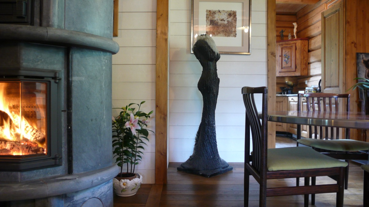 Art residency with a beautiful luxury interior