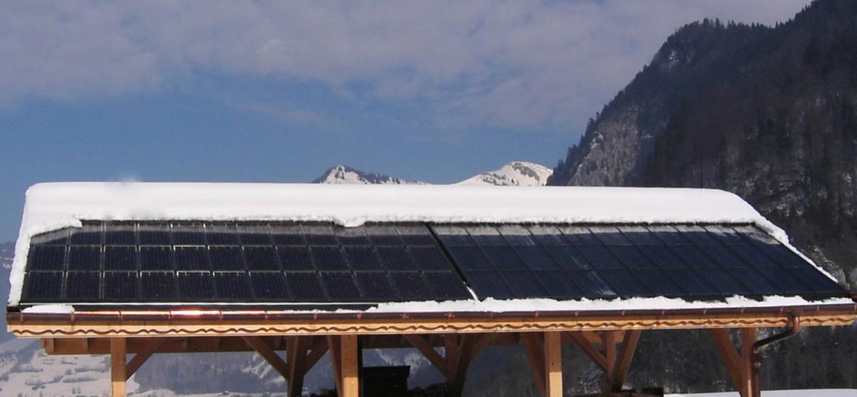 Chalet solar panels